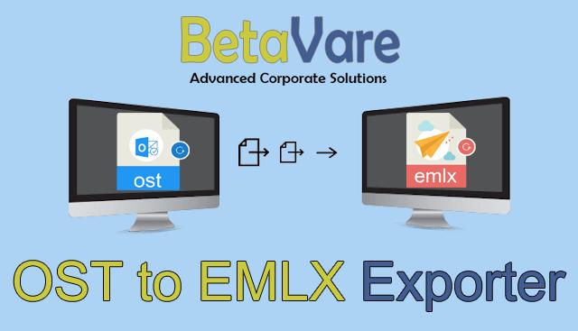Betavare Export OST to EMLX full screenshot