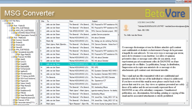 BetaVare MSG Converter full screenshot